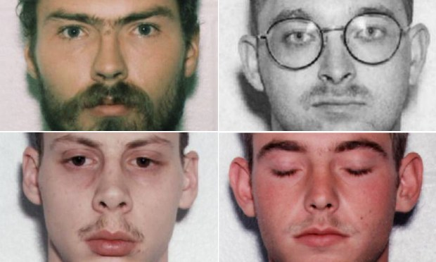 Clockwise from top left: Derek Tice, Danial Williams, Eric Wilson, Joseph Dick.
