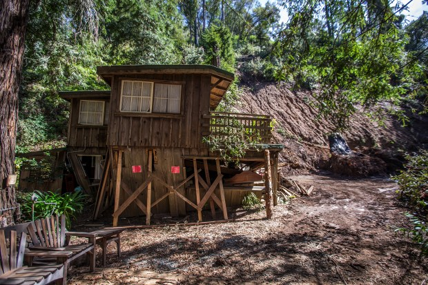 The Creek House at Deetjen's Big Sur Inn was damaged from a mudslide during recent storms in Big Sur, Calif. on Wednesday, March, 8, 2017. (LiPo Ching/Bay Area News Group)