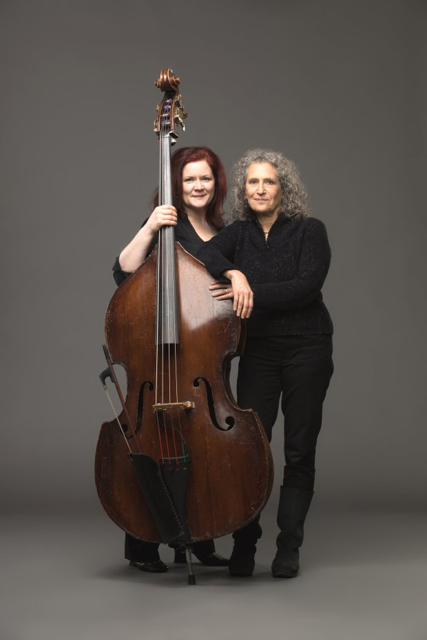 """Bassist, composer and improviser Lisa Mezzacappa, left, and choreographerRisa Jaroslow are collaborating in """"Touch Bass."""" (Margo Moritz)"""