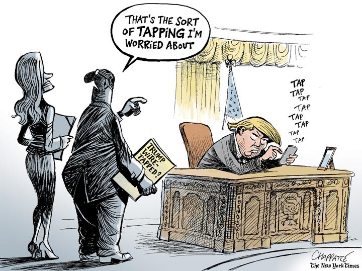 Image result for cartoons trump's tweet
