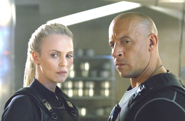 """Charlize Theron plays Cipher, and Vin Diesel plays Dom in """"The Fate of theFurious."""" (Universal Pictures)"""
