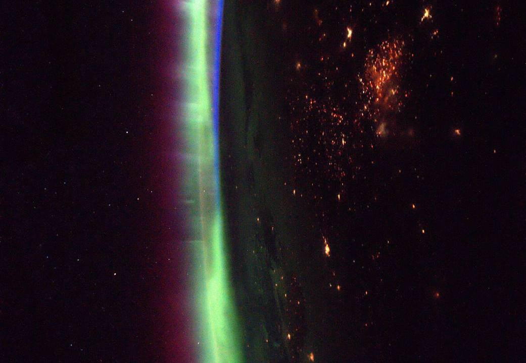Expedition 50 Flight Engineer Thomas Pesquet of the European Space Agency (ESA) photographed brightly glowing auroras from his vantage point aboard the International Space Station on March 27, 2017. (ESA/NASA)