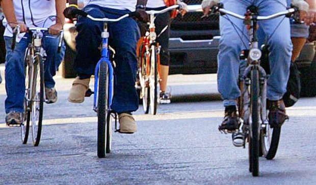 (Staff photo: Bicycle event in Hayward, 2006)