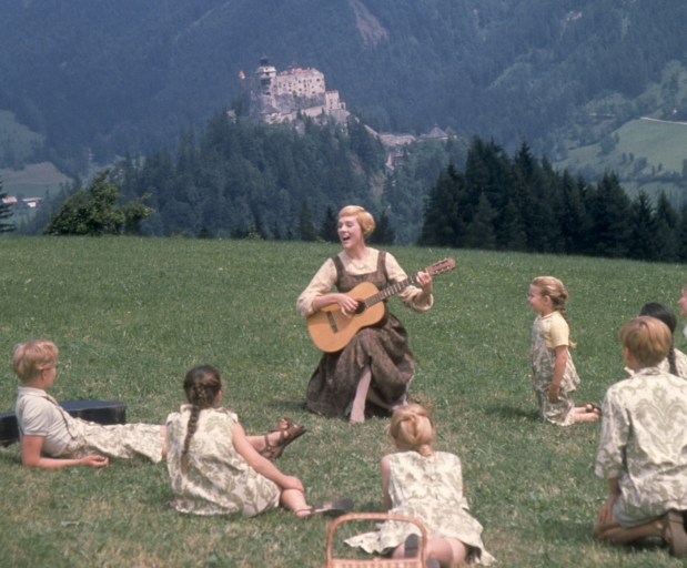 "Maria (Julie Andrews) teaches the Von Trapp children their Do, Re, Mi's in the beloved musical celebrating its 40th anniversary this year, ""The Sound of Music."" Photo credit: Twentieth Century Fox Home Entertainment"