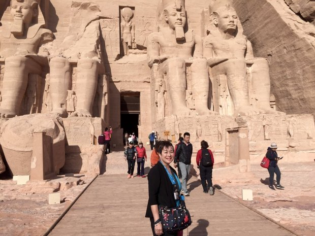 EGYPT: Fremont resident Valerie Fintel's recent Egyptian jaunt took herfrom Alexandria to Abu Simbel, pictured. (Courtesy Valerie Fintel)