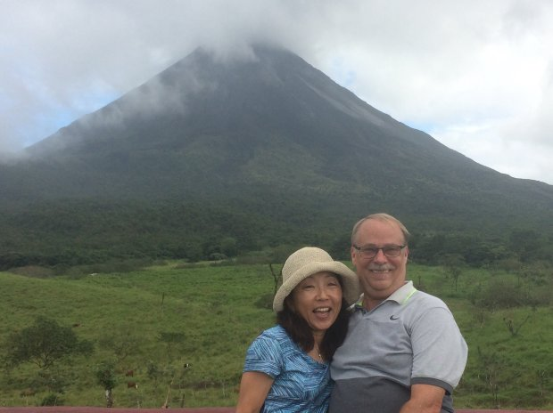 COSTA RICA: Richmond resident Mie Sugimoto and Rodeo's Jim Gray visitedCosta Rica's Arenal volcano this winter. (Courtesy of Jim Gray)