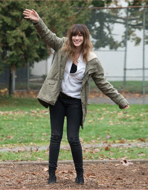 """In this image released by Neon, Anne Hathaway appears in a scene from, """"Colossal."""" (Neon via AP)"""