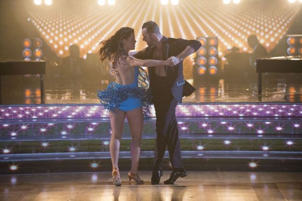 """DANCING WITH THE STARS – """"Episode 2403"""" – The 11 remaining celebrities are set to celebrate the allure of Sin City and take a gamble on dancing to some of the city's iconic songs, as Vegas Night comes to """"Dancing with the Stars,"""" live, MONDAY, APRIL 3 (8:00-10:01 p.m. EDT), on The ABC Television Network. (ABC/Eric McCandless)NANCY KERRIGAN, ARTEM CHIGVINTSEV"""