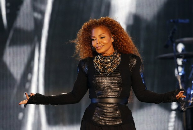 US singer Janet Jackson performs during the Dubai World Cup horse racing event on March 26, 2016 at the Meydan racecourse in the United Arab Emirate of Dubai.Janet Jackson returned to the stage after a four-month hiatus for mysterious health reasons, bringing her energetic dance show to Dubai. / AFP / KARIM SAHIB (Photo credit should read KARIM SAHIB/AFP/Getty Images)