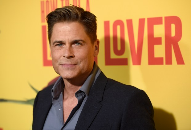 """Rob Lowe arrives at the Los Angeles premiere of """"How to Be a Latin Lover"""" at the ArcLight Hollywood on Wednesday, April 26, 2017. (Photo by Chris Pizzello/Invision/AP)"""