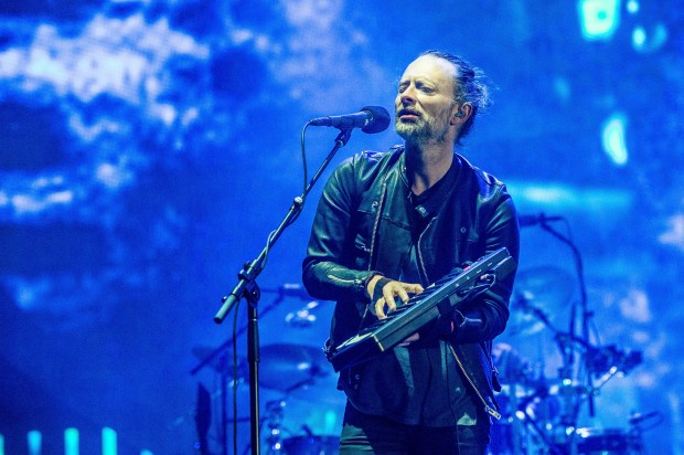 Thom Yorke of Radiohead performs at Coachella Music & Arts Festival at the Empire Polo Club on Friday, April 14, 2017, in Indio, Calif. (Photo by Amy Harris/Invision/AP)