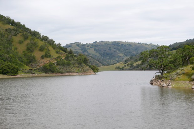 The North Fork Pacheco Creek Reservoir is the site of a newly planned $800 million reservoir in the hills of Eastern Santa Clara County near Hollister, Calif., on Tuesday, April 11, 2017. The reservoir would hold 130,000 acre-feet of water, making it the largest reservoir in Santa Clara County. (Gary Reyes/ Bay Area News Group)