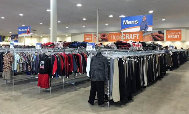 The HopeThrift SuperCenter, which is operated by and benefits the nonprofitgroup Hope Services, opened for business in San Jose on Friday, April 7, 2017. (Sal Pizarro/Staff)