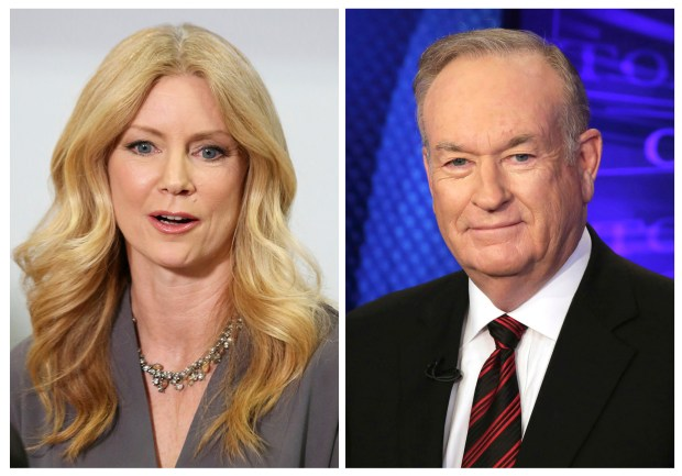 Former Fox News contributor Wendy Walsh; and Fox News personality Bill O'Reilly. (AP Photo/Anthony McCartney, left, and Richard Drew)