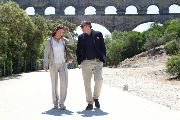"Diane Lane, left, and Arnaud Viard make a gastronomic odyssey in ""Paris CanWait."" (Roger Arpajou/Sony Pictures Classics)"