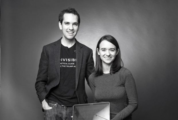 Ezra Levin and Leah Greenberg, founders of the anti-Trump group Indivisible. Courtesy KK Ottesen