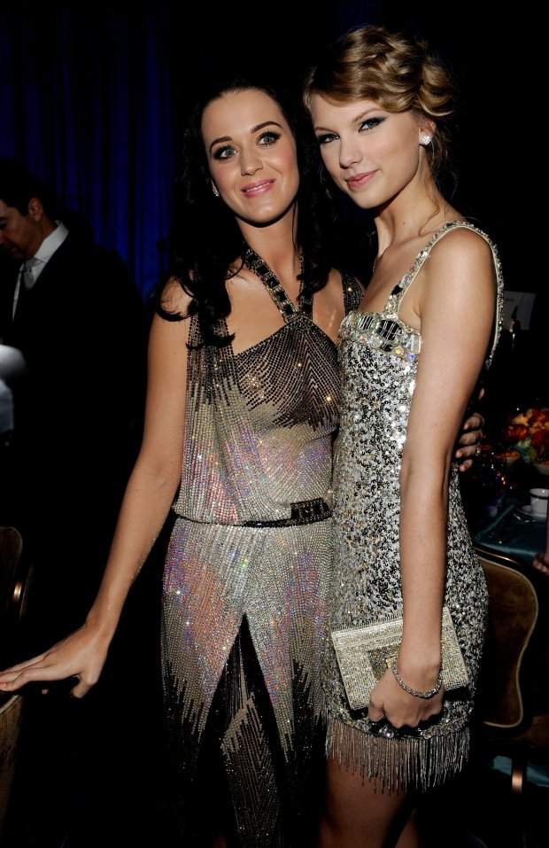 Katy Perry and Taylor Swift at the 52nd Annual GRAMMY Awards. (Photo byLarry Busacca/Getty Images for NARAS)