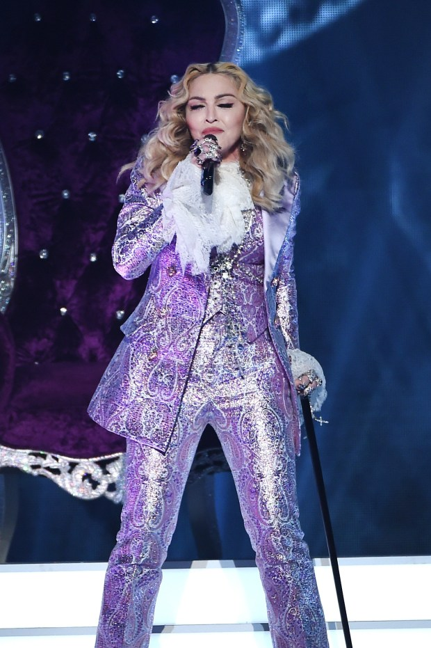 LAS VEGAS, NV - MAY 22: Recording artist Madonna performs a tribute to Prince onstage during the 2016 Billboard Music Awards at T-Mobile Arena on May 22, 2016 in Las Vegas, Nevada. (Photo by Kevin Winter/Getty Images)