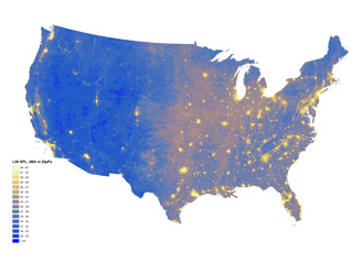 map of noise in U.S.