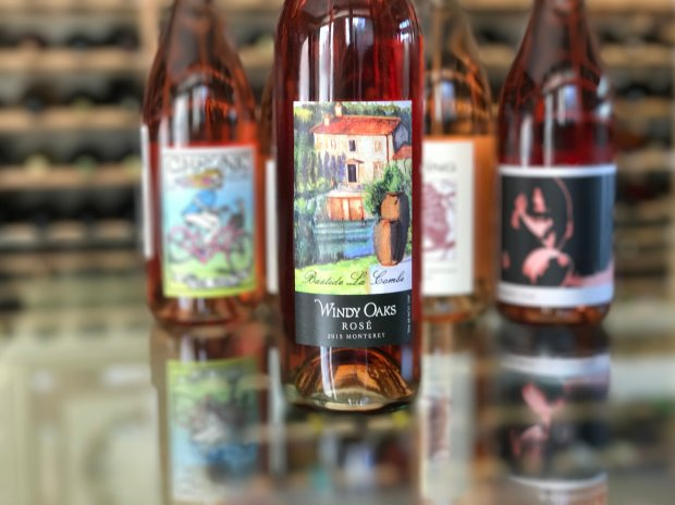 On the Windy Oaks rosé label, a farmhouse in France's Provence.(Mary Orlin/Bay Area News Group)