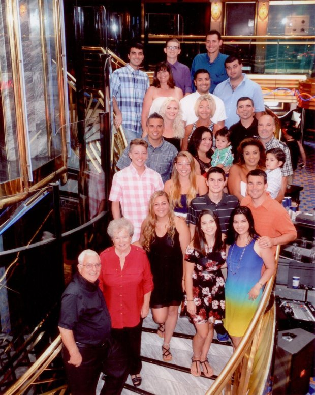 "BAJA CALIFORNIA: Felton Residents Ron and Joan Raymond and the entireRaymond clan of 24 -- from Las Vegas, Denver, Felton, Ben Lomond, Scotts Valley had ""a great reunion"" on a 3-day cruise to Baja last August. (Raymond family photo)"