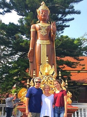 THAILAND: Alamo residents Doug Ledeboer and his wife, Linda Silvera,traveled to Thailand to visit their daughter, Caroline Ledeboer, where she is teaching English as a second language this year. (Courtesy of Linda Silvera)