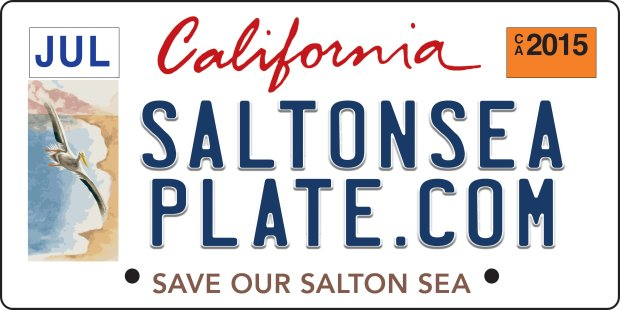 A proposal to create a new license plate to help fund environmentalrestoration at the Salton Sea in Imperial and Riverside counties in the Southern California desert failed in 2017 when it did not reach the required number of 7,500 pre-purchases. -- *Paul Rogers* Natural Resources and Environment Writer | progers@bayareanewsgroup.com 408-920-5045 Direct @PaulRogersSJMN bayareanewsgroup.com *Over 5 million engaged readers weekly*