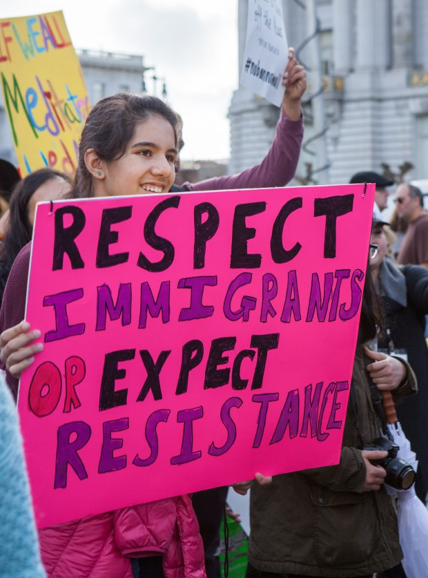 President Donald Trump's immigration policies have drawn numerous protests in San Francisco, a sanctuary city that has for decades offered undocumented immigrants protections from U.S. immigration authorities.