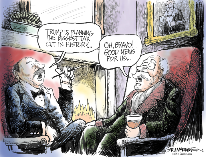 Image result for cartoons on trump's tax cut