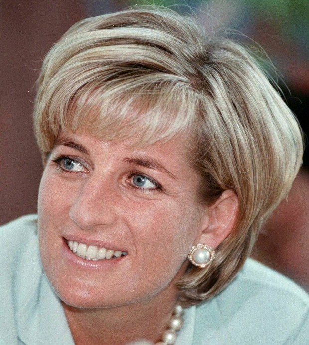 Diana, the Princess of Wales during her visit to Leicester in this May 27, 1997 file photo. Princess Diana was born on July 1, 1961. Diana was killed in a car crash in Paris on August 31, 1997. (AP Photo)