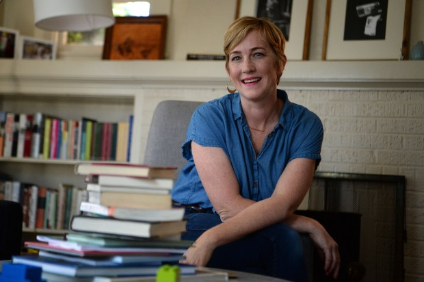"""East Bay author Edan Lepucki is photographed at her Albany, Calif., home on Friday, June 2, 2017. Lepucki, whose debut novel, """"California,"""" became a best-seller a few years ago when Steven Colbert singled it out as something to buy from your local indie book store, in order to make a statement. Her new book, """"Woman No. 17,"""" is getting rave reviews.(Dan Honda/Bay Area News Group)"""