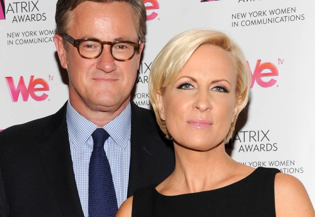 """Morning Joe"" co-hosts Joe Scarborough and Mika Brzezinski in 2013.""(Photo by Evan Agostini/Invision/AP)"