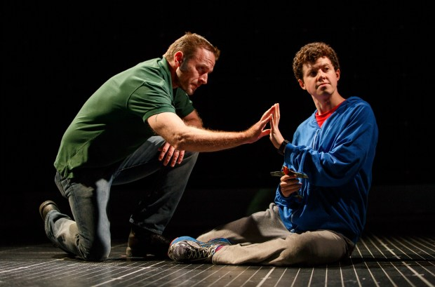 """JOAN MARCUS/SHNGene Gillette, left, and Adam Langdon star in """"The Curious Incident of the Dog in the Night-Time,"""" coming to San Francisco June 27-July 23."""
