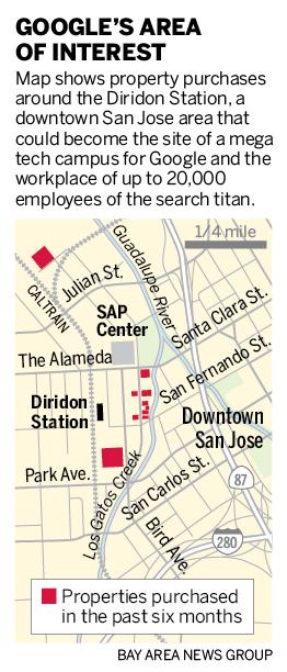 Google, San Jose discuss plans for huge downtown expansion