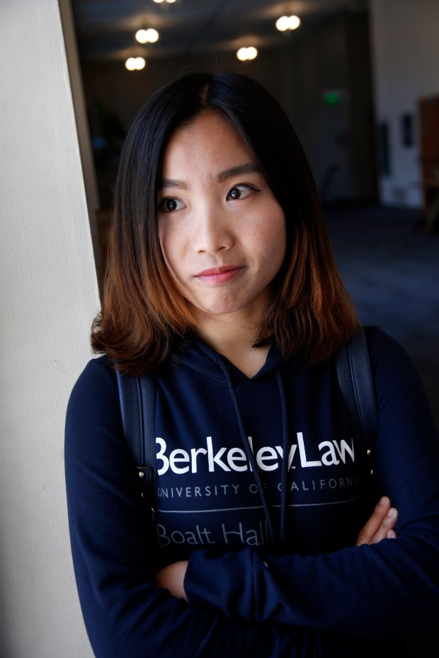 Manli Li, a native of China, is a law student at the University of California, Berkeley, where she spent time, Monday, June 12, 2017, in Berkeley, California. Some American schools have reported a drop in international student applications. (Karl Mondon/Bay Area News Group)