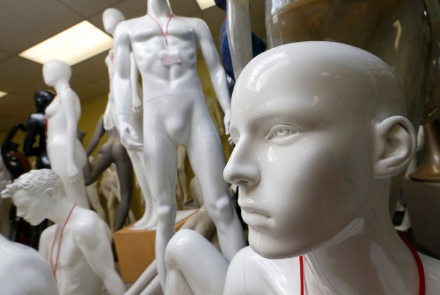 Mannequins are seen at the Mannequin Madness retail store and warehouse in Oakland, Calif., on Tuesday, June 20, 2017. Owner Judi Townsend, of Oakland, began the business of renting, selling, repairing and recycling mannequins in 2002, and now also rents an onsite photo studio. (Jane Tyska/Bay Area News Group)