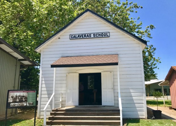 Micke Grove Regional Park is also home to the San Joaquin County HistoricalMuseum, offering glimpses of the past, such as this one-room schoolhouse built in 1866 and still in use up until 1959. (Jackie Burrell/Bay Area News Group)