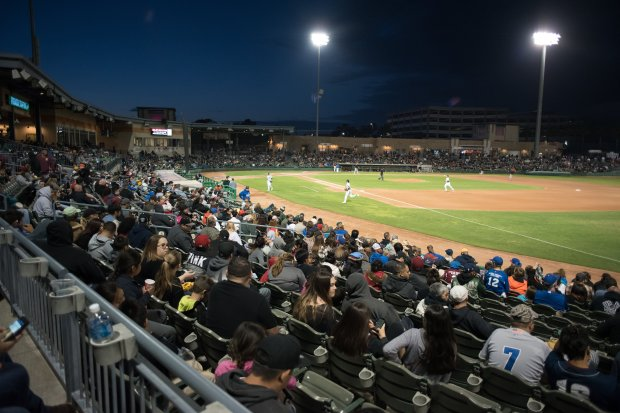Temperatures drop to a pleasantly balmy degree when you take in an eveninggame at the Stockton Ports' field of dreams. (Photo: Stockton Ports)