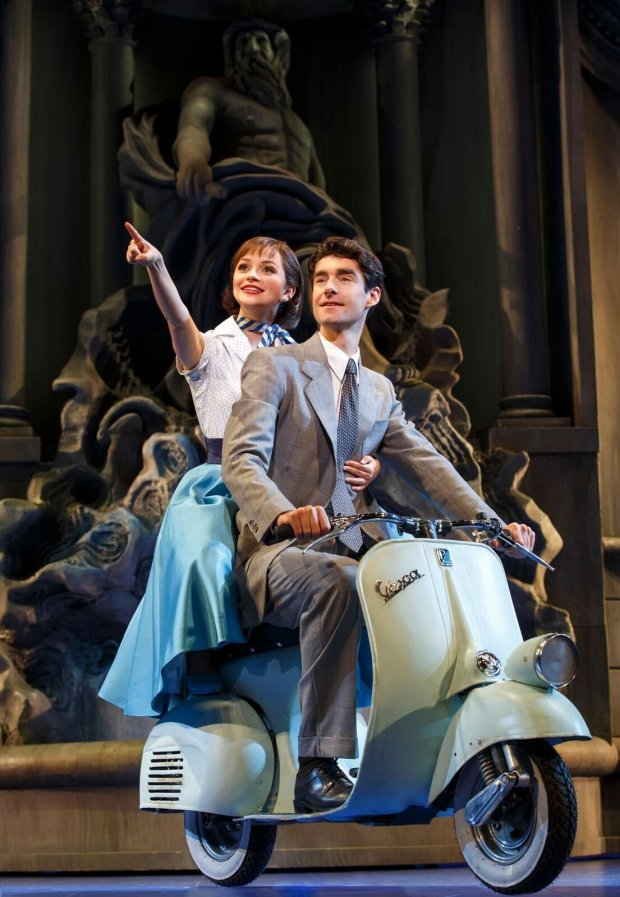 """Stephanie Styles and Drew Gehling in """"Roman Holiday."""" (credit:Joan Marcus)"""