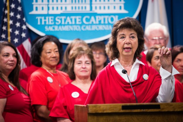 At the California Capitol, nurses union leader RoseAnn DeMoro unveils astudy on the potential for universal health care in California. Photo by Max Whittaker for CALmatters -- *Sandra Gonzales* Deputy Metro Editor | Editorial sgonzales@bayareanewsgroup.com 408.920.5778 Direct @sandrag_nce bayareanewsgroup.com *Over 5 million engaged readers weekly*