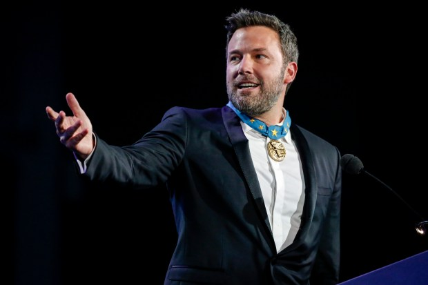 Ben Affleck at the 2017 So the World May Hear Awards Gala on Sunday, July 16, 2017, in Saint Paul, Minn. (Bruce Kluckhohn/AP Images for Starkey Hearing Foundation)