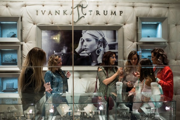 Customers visit the Ivanka Trump store in Trump Tower on Fifth Avenue in New York in June. (Gareth Smit/For The Washington Post)