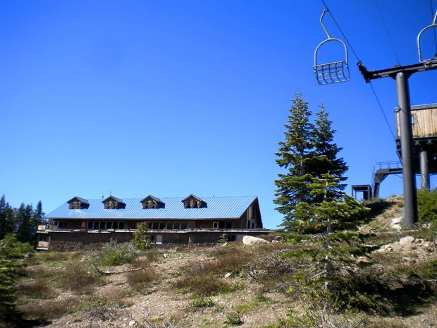 The former Iron Mountain Ski area, which closed in 1993. (Courtesy Donner Summit Historical Society, Norm Sayler Collection)