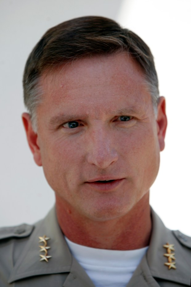 Santa Clara County Undersheriff Carl Neusel speaks after an orientation session for the incoming correctional deputy academy class, which at 68 recruits is the largest in the department's history, Monday, July 3, 2017, in San Jose, California. (Karl Mondon/Bay Area News Group)