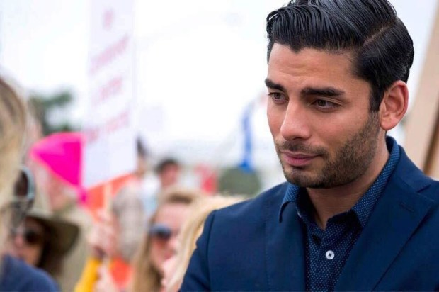Ammar Campa-Najjar, a San Diego congressional candidate, at a campaign event. (Courtesy Ammar Campa-Najjar)