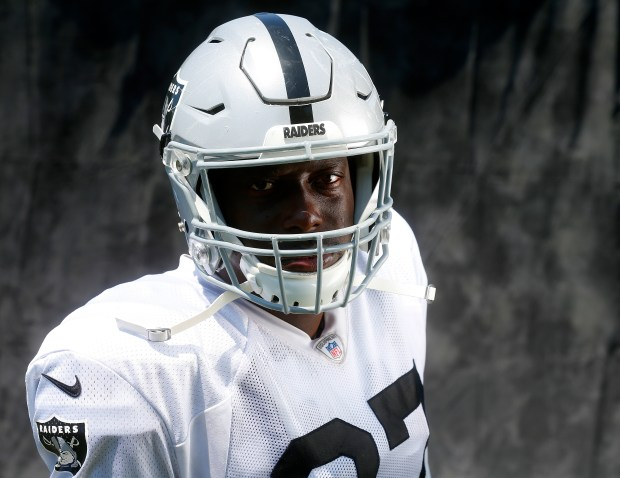 Oakland Raiders player Jared Cook is photographed on Wednesday, Aug. 9, 2017, in Napa, Calif. (Aric Crabb/Bay Area News Group)