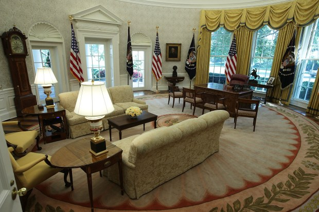 obamas oval office. WASHINGTON, DC - AUGUST 22: The Oval Office Of White House Is Seen Obamas B