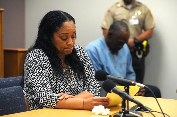 LOVELOCK, NV - JULY 20: O.J. Simpson listens as his daughter Arnelle Simpson testifies during his parole hearing testifies during his parole hearing at Lovelock Correctional Center July 20, 2017 in Lovelock, Nevada. Simpson is serving a nine to 33 year prison term for a 2007 armed robbery and kidnapping conviction. (Photo by Jason Bean-Pool/Getty Images)