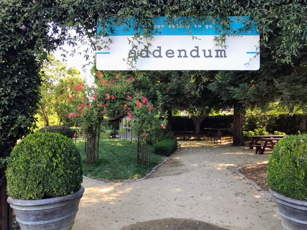 Addendum is Michelin-starred chef Thomas Keller's casual, alfresco takeout eatery.(Mary Orlin/Bay Area News Group)