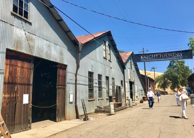 Visitors to Sutters Creek can tour the 19th century Knight Foundry duringmonthly open houses and during Sutters Creek' upcoming Heritage Days, Sept. 23-24, 2017. (Photo: Jackie Burrell/Bay Area News Group)